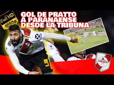GOL DE PRATTO A PARANAENSE DESDE LA TRIBUNA + DELIRIO / River Plate vs Paranaense - Recopa 2019