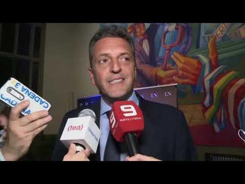 Debate Presidencial: Sergio Massa habló con el Nueve