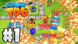 Bloons Tower Defence 6 - World First Gameplay! - BTD 6 Gameplay Part 1