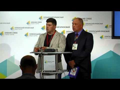 Volunteers of medical service. Ukraine crisis media center, 3rd of July 2014