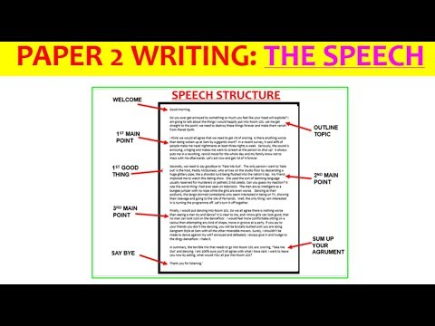 Essay writing speech