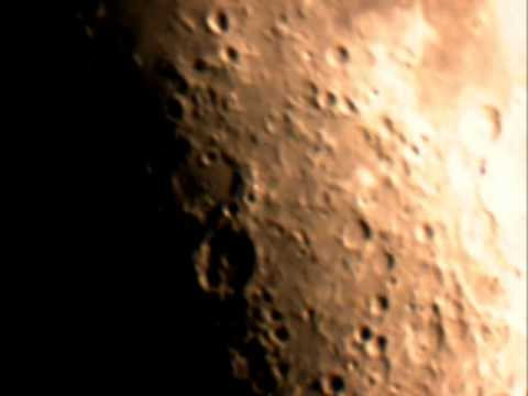 Moon Craters Hipparchus and Albategnius seen through 10 inch telescope