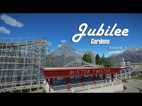 Planet Coaster: Jubilee Gardens [Ep. 7] - Park Overview, Wooden Roller Coaster and Town Square