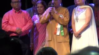 Indian National Anthem On Indian Independence Day in Los Angeles