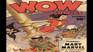 Wow Comics No 19R with Mary Marvel Comix Book Movie