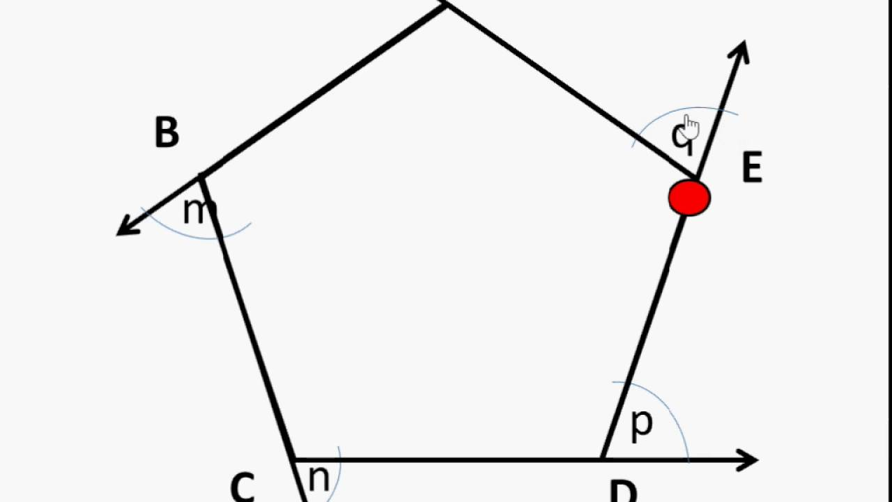 Maths how to find exterior angle sum of a polygon - Sum of exterior angles of polygon ...
