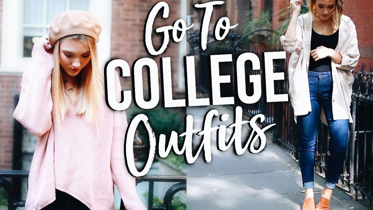 2d3ee378a4ce Everyday COLLEGE Outfits of The Week! What I Wear to College! - YouTube