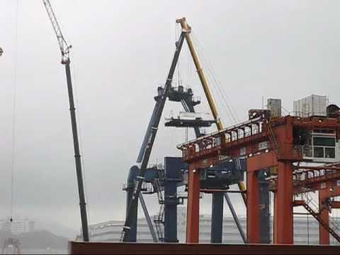 Hitachi Gantry Crane down