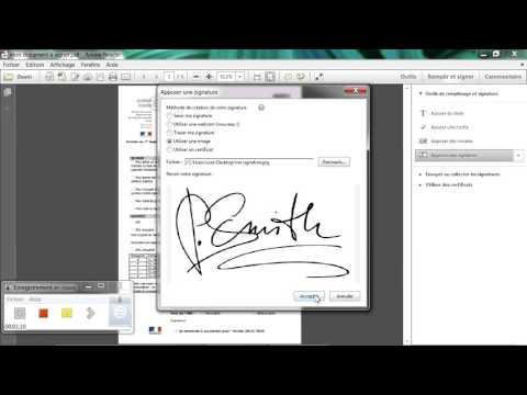 Signer numériquement un document pdf