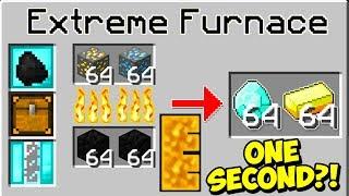 THE FASTEST FURNACE IN MINECRAFT?! | Minecraft Mods (WORLD RECORD)