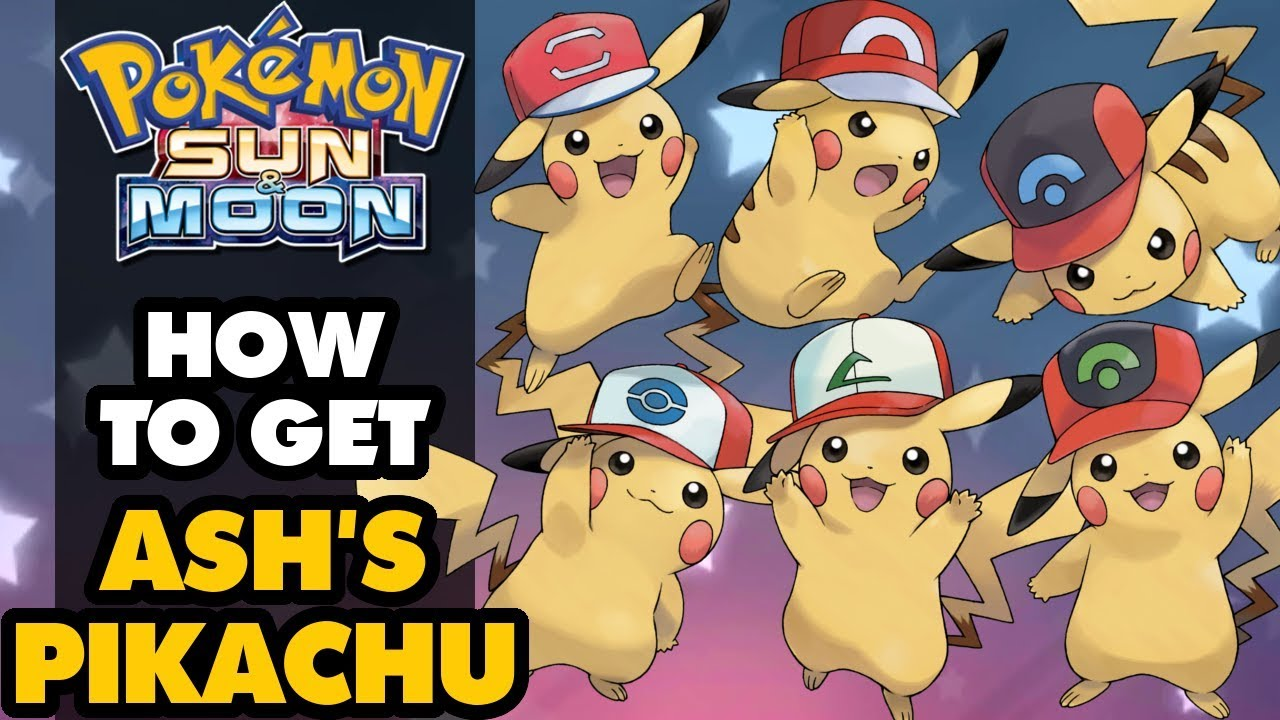 4557882301f54 ASH HAT PIKACHU RELEASED! How to Get Ash s Pikachu in Pokémon Sun and Moon