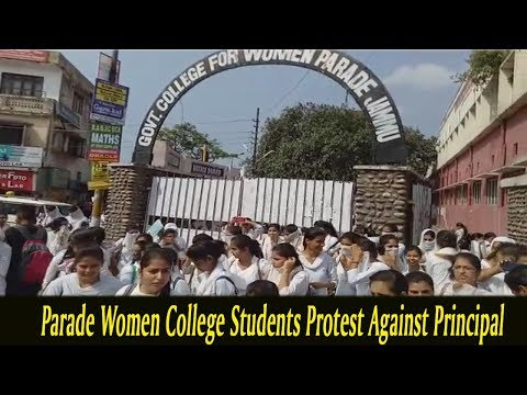 Parade Women College Students Protest Against Principal