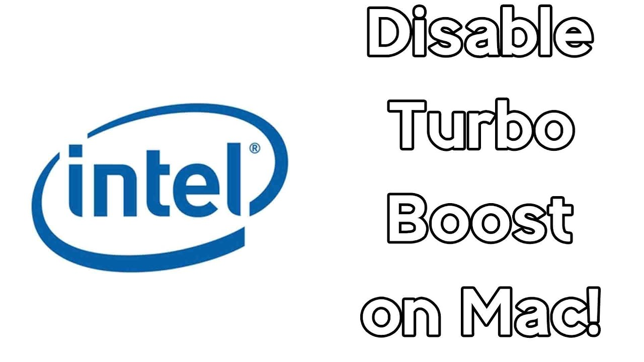 How To Disable Intel Turbo Boost on Mac