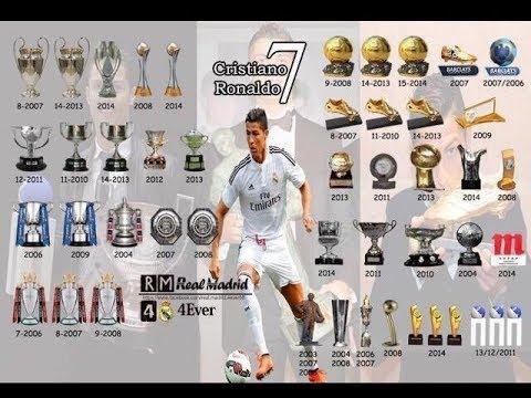 جميع جوائز الاسطوره كريستيانو رونالدو في مسيرته الكرويه مع مانشستر يونايتد  وريال مدريد - YouTube
