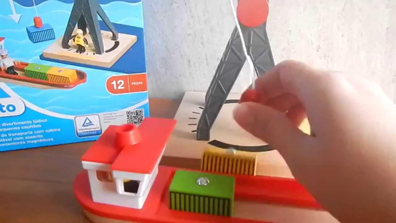 Conteiners Infantil Episodio Playtive Barco Y De Con By JugueteGrua Puerto Junior 4RL5Aj