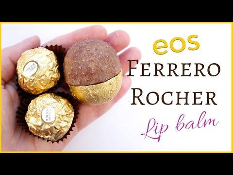 DIY EOS Lip Balm Ferrero Rocher Tutorial
