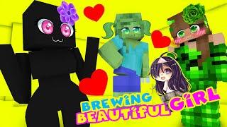 Monster School BREWING BEAUTIFUL GIRLS Minecraft Animation