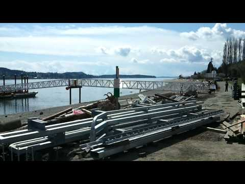 Guemes Island dock construction overview 2011