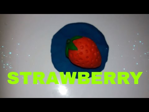 HOME CLASS FOR KIDS FOR CLAY MODELING MAKING A STRAWBERRY
