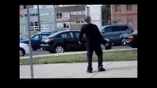 Drunk man walking