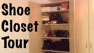 Shoe Closet Tour Featuring The Ikea Pax Wardrobe