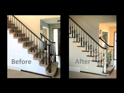 Remodel Staircase - Remove Carpet, Stain Hardwood