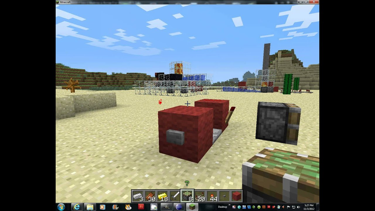 Minecraft Redstone How To Make A Button On Off Switch