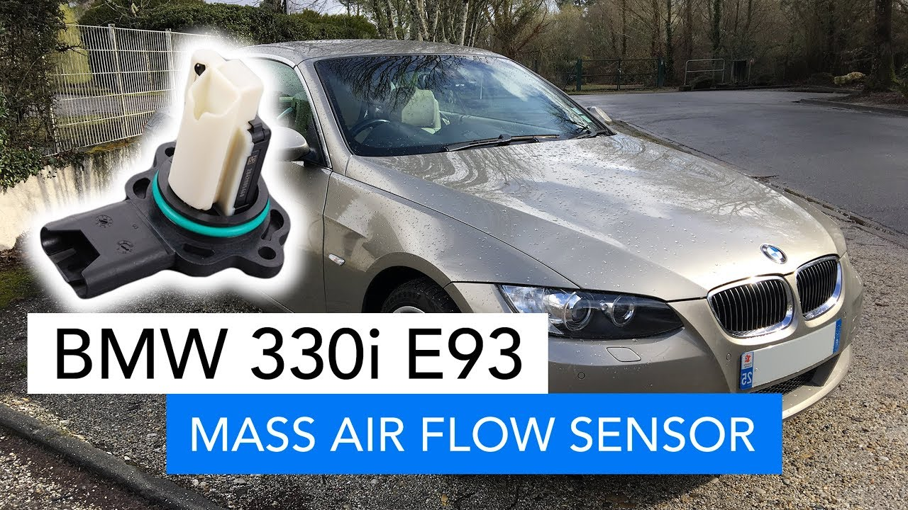 cleaning the mass air flow sensor on a bmw e93 330i n53 [ 1280 x 720 Pixel ]