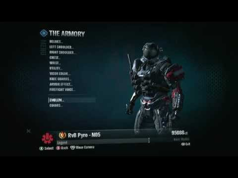 how to make a legendary emblem in halo reach youtube