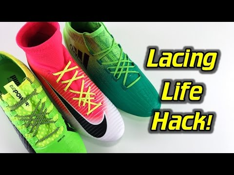 A Better Way of Lacing Your Football Boots/Soccer Cleats - Life Hack