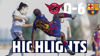 HIGHLIGHTS | Tacón 0 - 6 FC Barcelona Femení