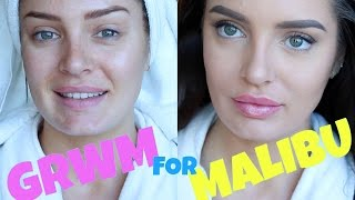 Travel Get Ready With Me! Doing My Makeup For A Day In MALIBU