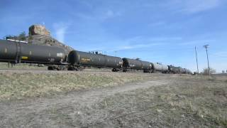 Union Pacific GE AC44CW 6873 & 6372 in Castle Rock, CO