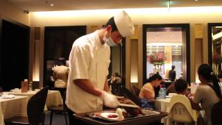 Chinese Chef Carving a Peking Duck, Singapore