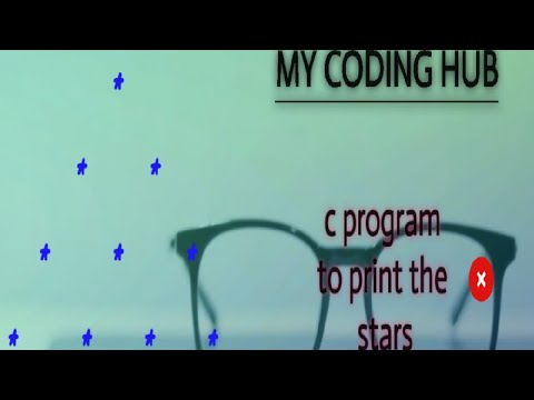 C Program - Print Stars / C Programming  / C Language