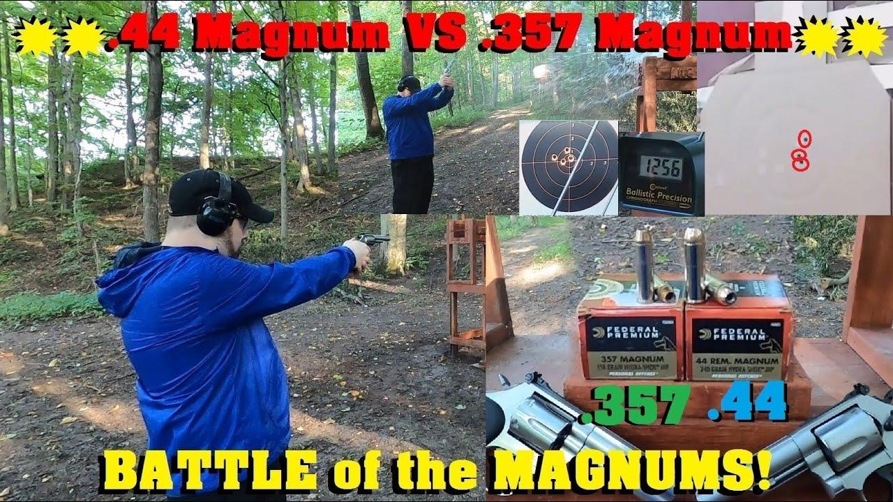 .44 Magnum VS .357 Magnum for Personal Defense- BATTLE of the MAGNUMS!