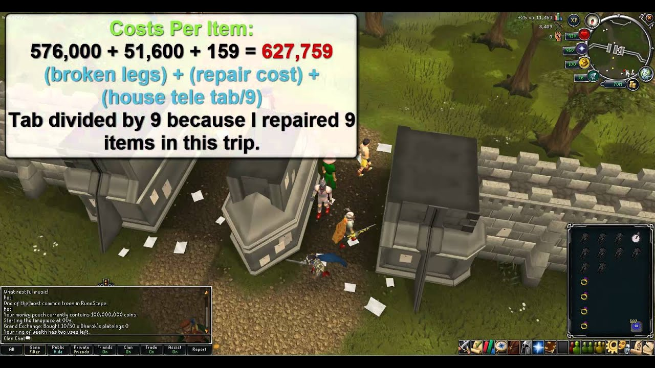 15 Repairing Barrows Armor 21mhour How To Make Money On
