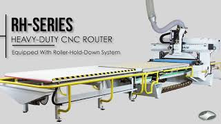 RH-Series (Roller Hold Down) CNC Router by C.R. Onsrud