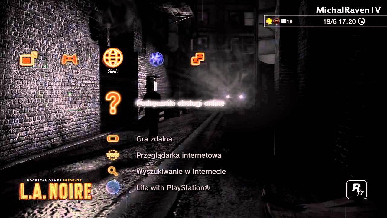 L A  Noire Alley Dynamic Theme (PS3)