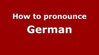 Download lagu How to pronounce German PronounceNames com MP3