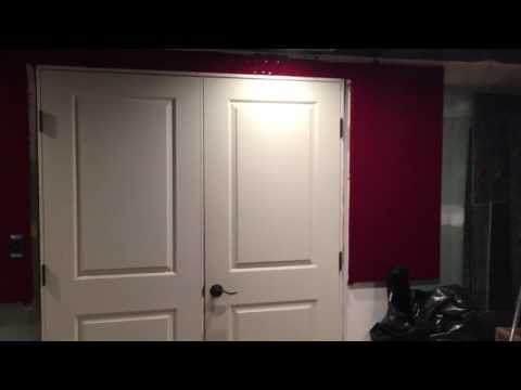 Home Theater Red Fabric Wall Panels