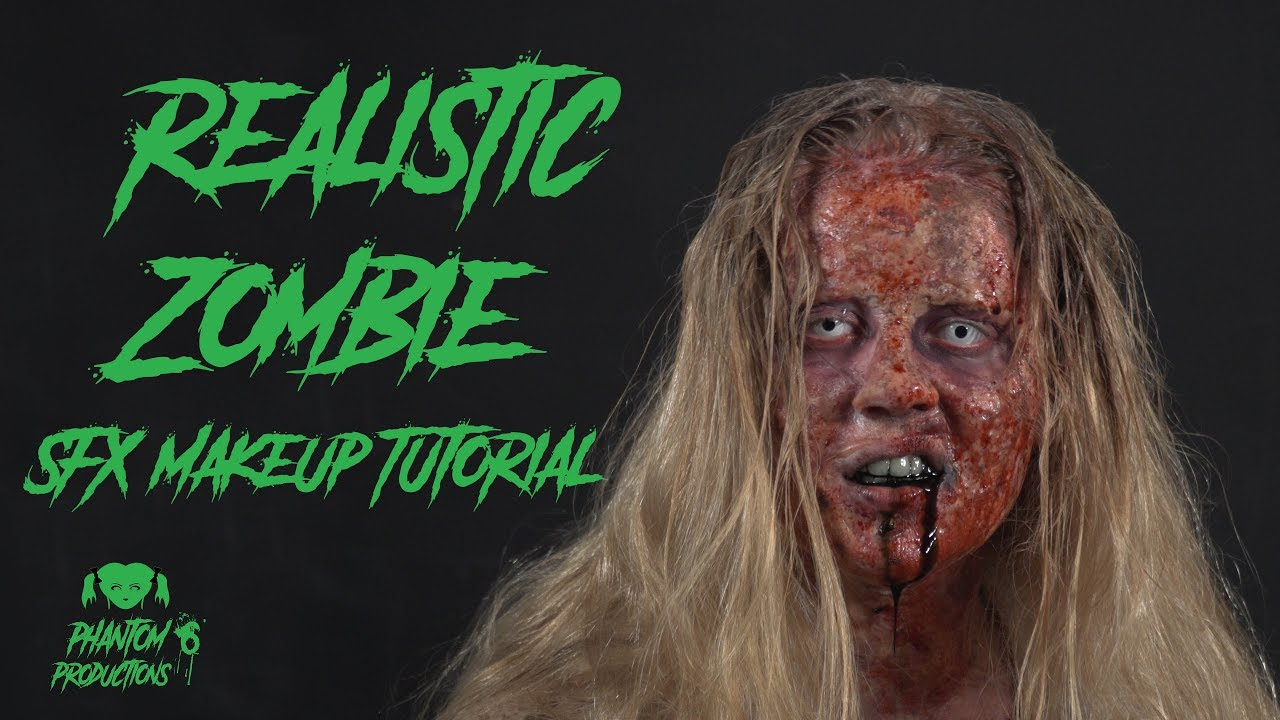 a realistic zombie look