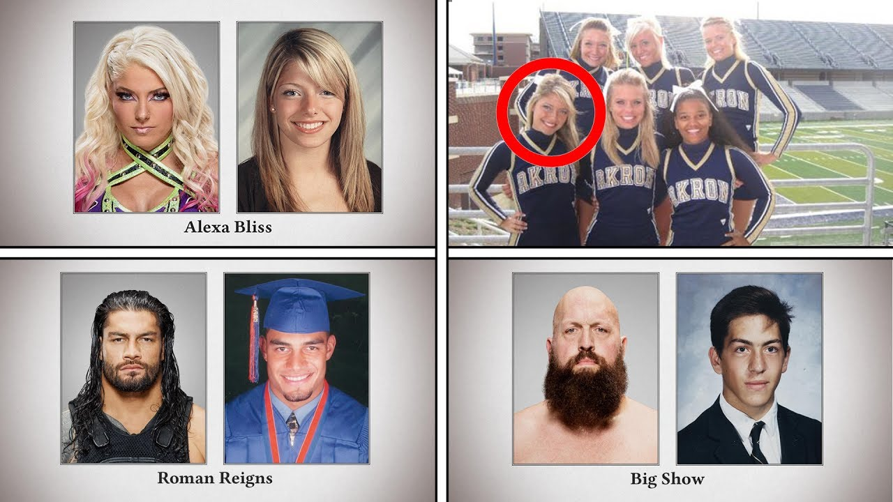wwe superstars when they were in high school amazing