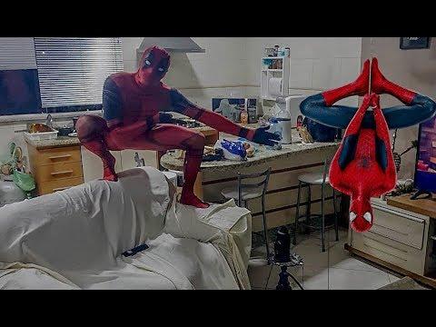 Quando DeadPool e o Homem Aranha vão morar juntos.. SpiderDenis vs DeadFlow