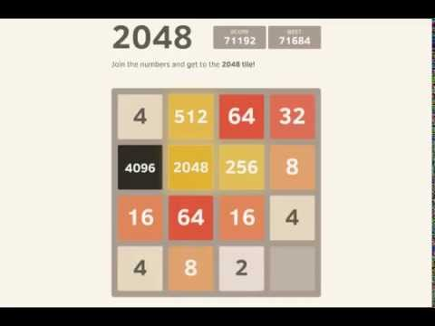 Impressive : full 2048 game to 71k with 4096 tile