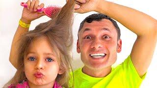 Папа с дочками - Детская песня. Песни для детей от Майи и Маши