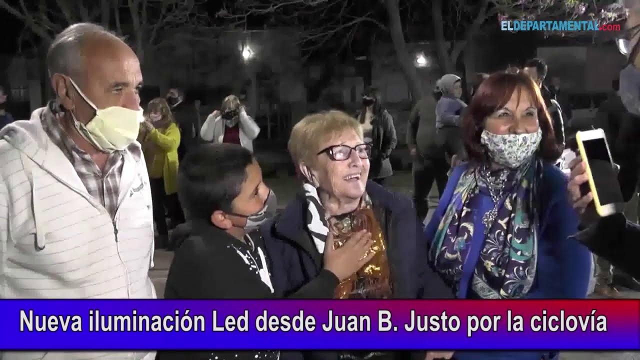 Nueva iluminación Led desde Juan B  Justo por la ciclovía