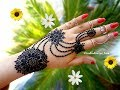 How to apply beautiful latest arabic khaleeji jewellery henna mehndi designs for hands eid,diwali