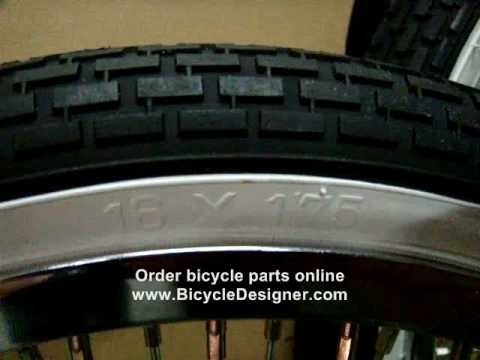 Bicycle Parts Wheel Measuring By Viewing Your Tire Size Youtube