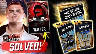 WALTER 2K20 QR CODE MYSTERY SOLVED!! Hall of Fame & Throwback Pack Opening! | WWE SuperCard